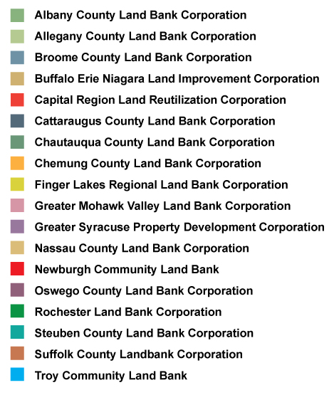 land bank map key