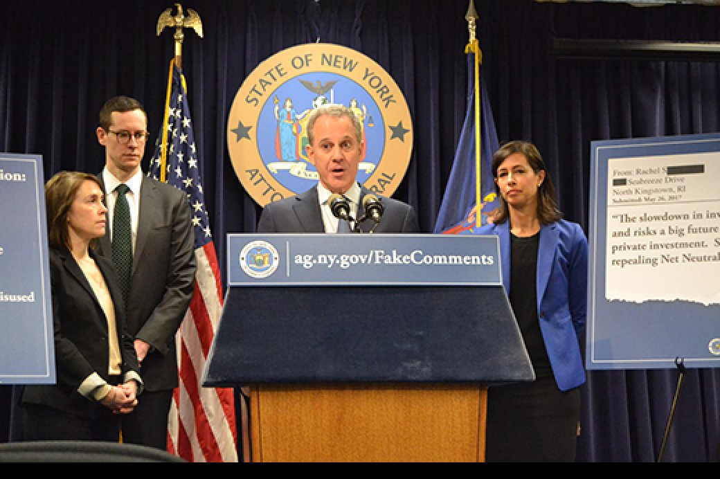 A.G. Schneiderman Announces FCC IG's Office Reverses Course After Pressure, Signals Intent To Assist With AG's Investigation Into Fake Comments Submitted During Net Neutrality Comment Process