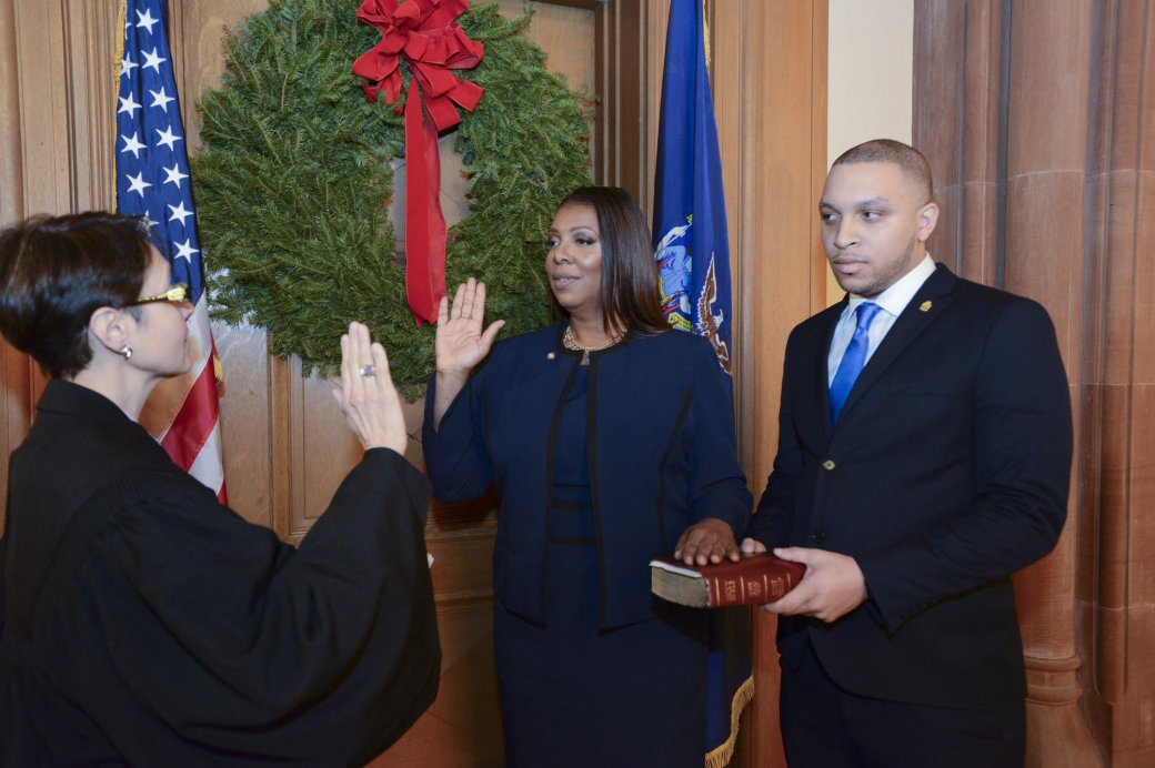 Letitia James Sworn In as New York State  Attorney General