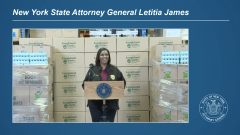 Attorney General James Delivers 1.2 Million Eggs to New Yorkers in Long Island
